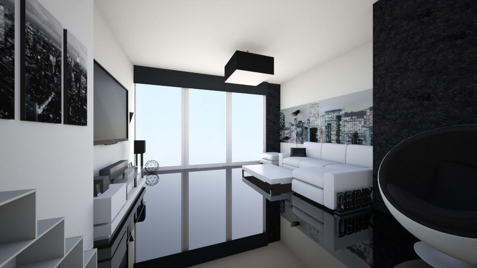 black n white - Modern - Living room  - by xrhstos