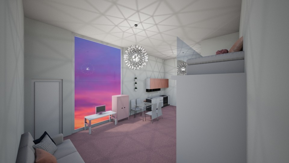 Tiny Top Apartment Pink - Minimal - by Itsjustme1