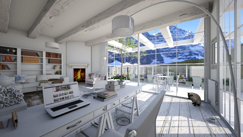 White loft roof garden - by AnnaMull