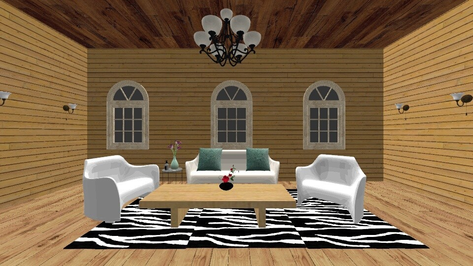 Elegant Wood Cabin - Classic - Living room - by New York Mets