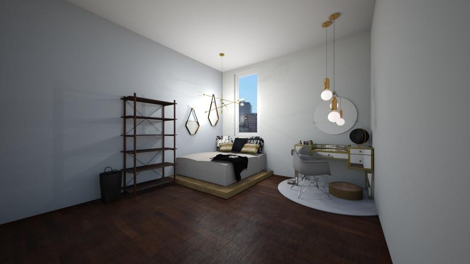 Minimalistic  bedroom - by herrincook