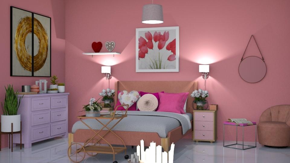 Pink Bedroom - Bedroom - by beautiful luxury winter decoration