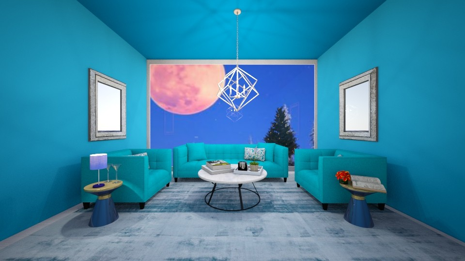 Blue Night  - Living room - by beautiful luxury winter decoration