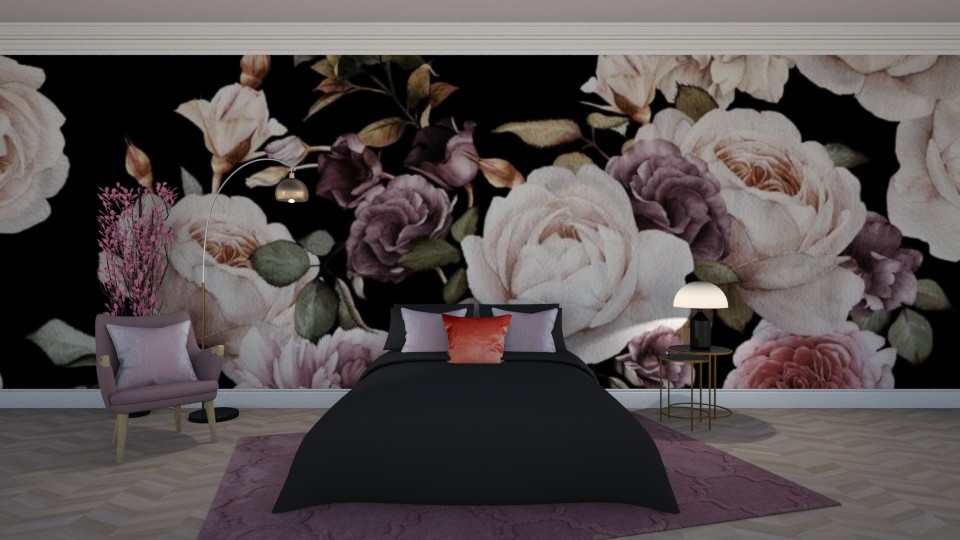 Black Rose - Minimal - Bedroom  - by Claudia Correia