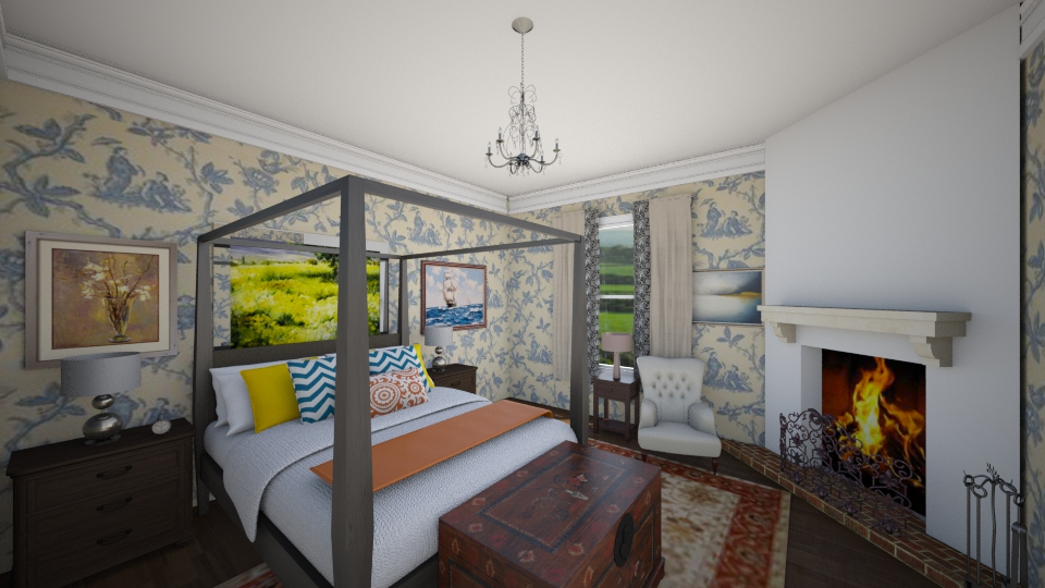 Colonial style bedroom - Bedroom  - by mycha