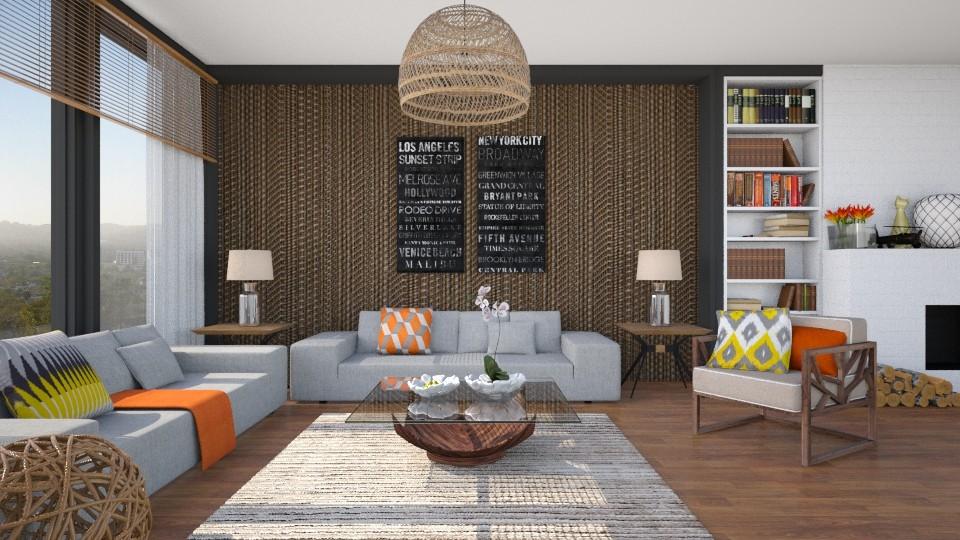 Natural YellowOrange - Living room - by Isabella_Palmeri