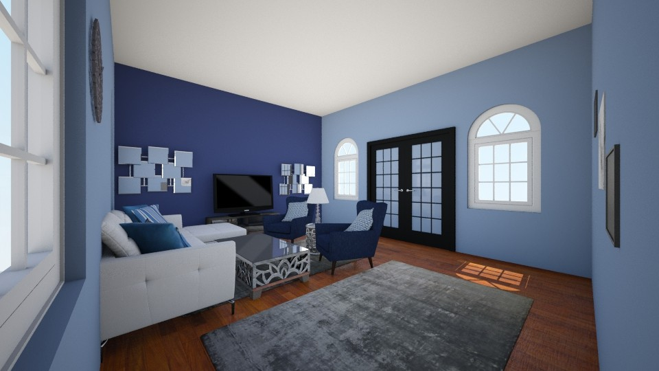 Blue wonderland - Modern - Living room - by CreativeCreations