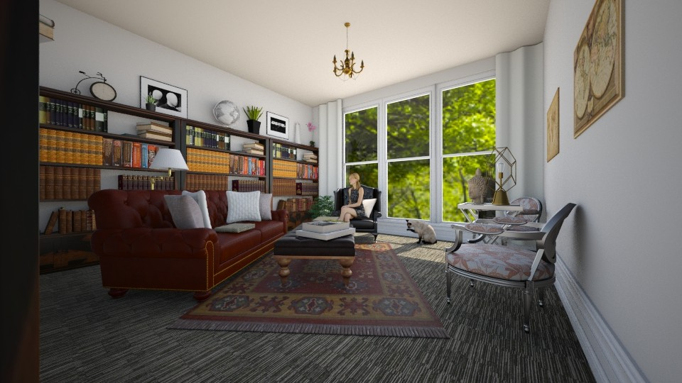 home library - Eclectic - by renne