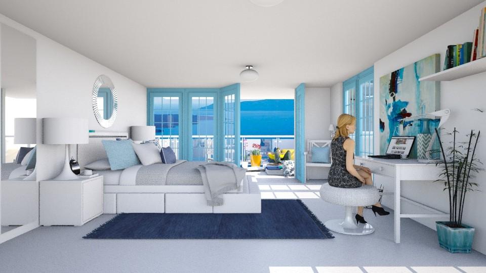 greek bedroom - Bedroom - by Catarinatsimoes