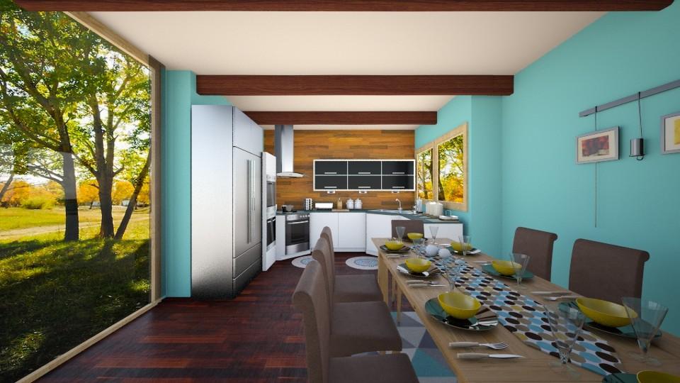 Wooden Blend - Kitchen - by Shyista