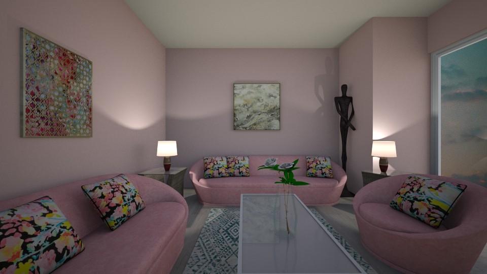 Pastel  - Living room - by Ana Angela