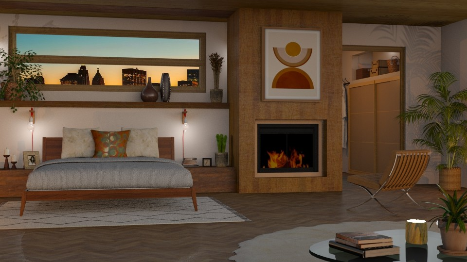 mid century bedroom - Bedroom - by LB1981