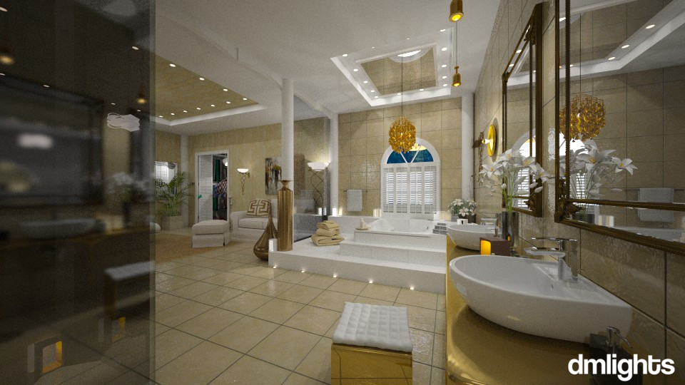 Giltened ensuite - Glamour - Bathroom - by DMLights-user-981898