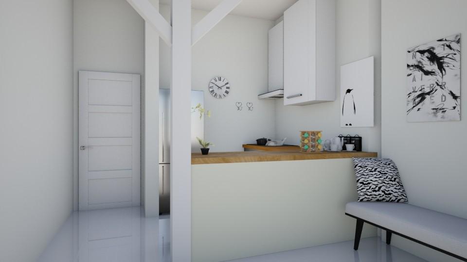 cozinha branca - Kitchen  - by Tainaraa