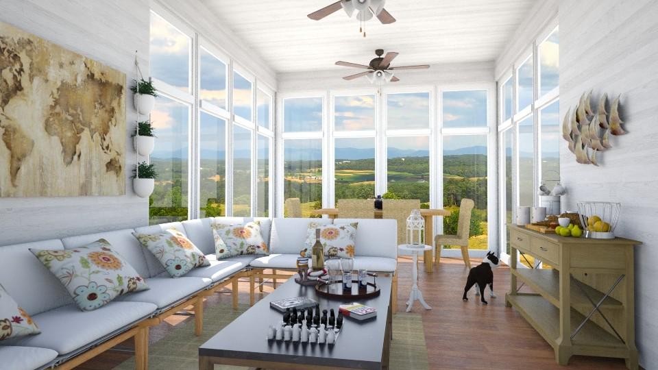 Virginia Sun Room - Eclectic - Living room - by LadyVegas08