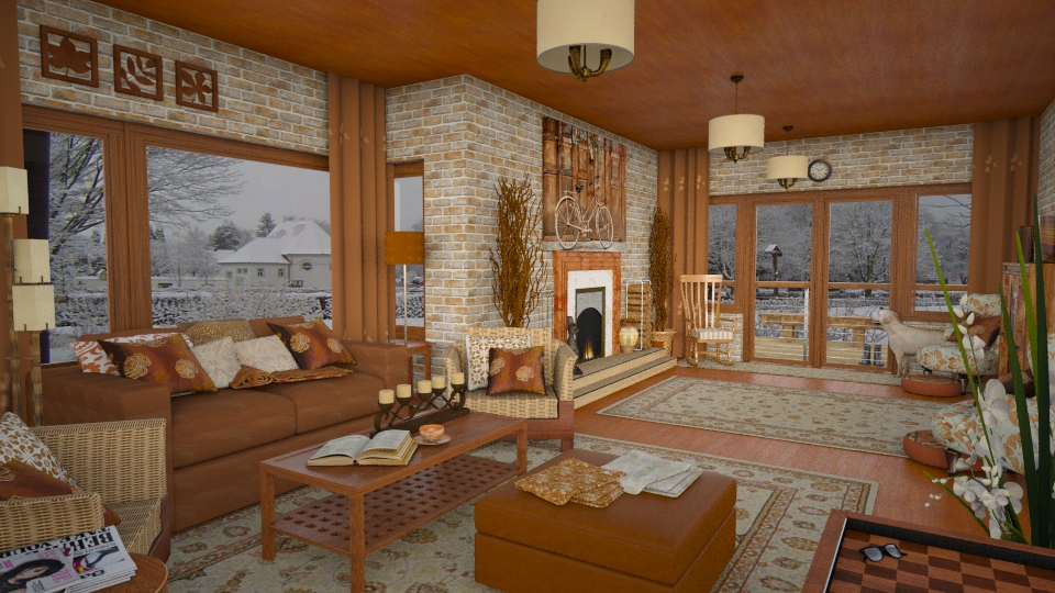 Design 29 Winter Warmth - Living room - by Daisy320