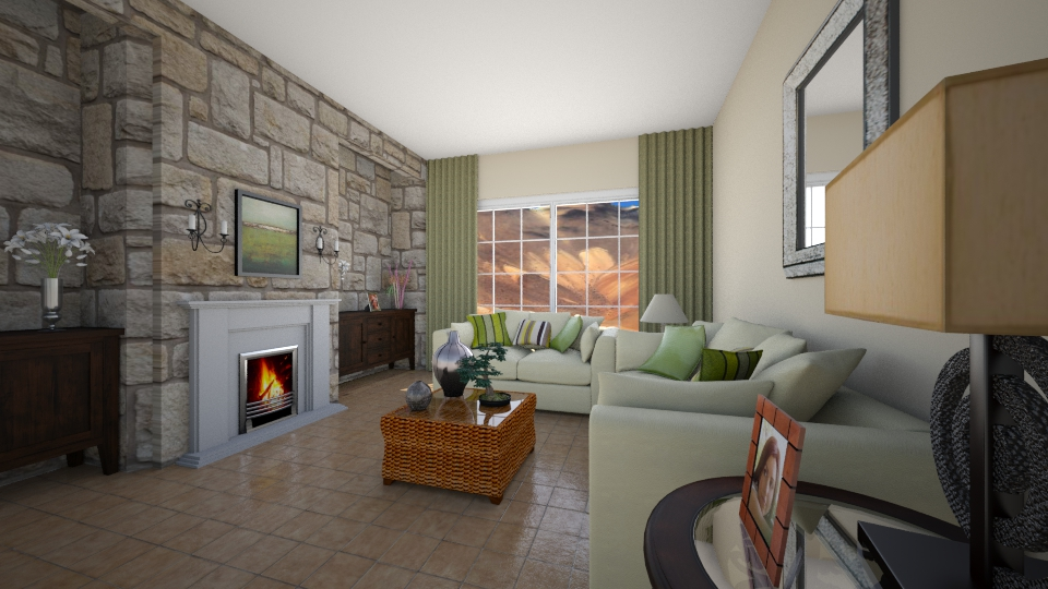 family room - Living room - by Interiors by Laura