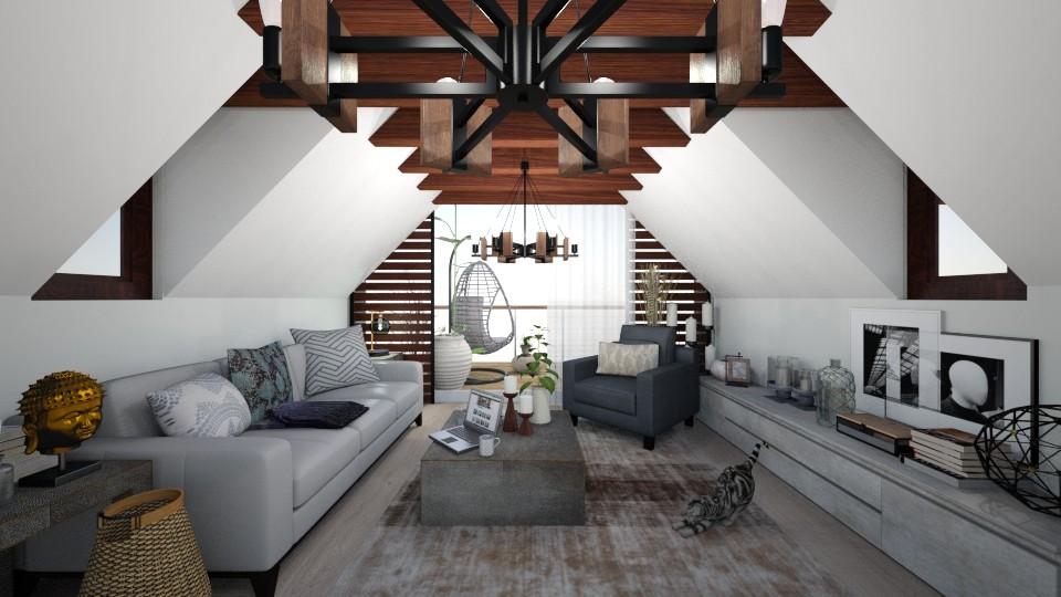 attic room - by dark