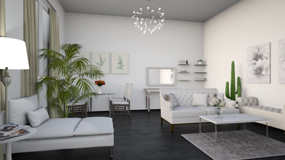 White - Living room - by dorota_k