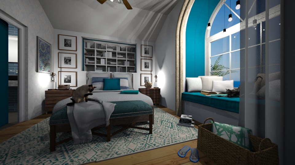 Beach home - Glamour - Bedroom - by Sally Anne Design
