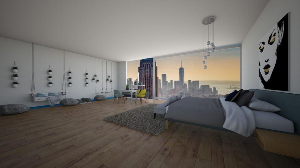 NY apartment - Bedroom - by dia17a
