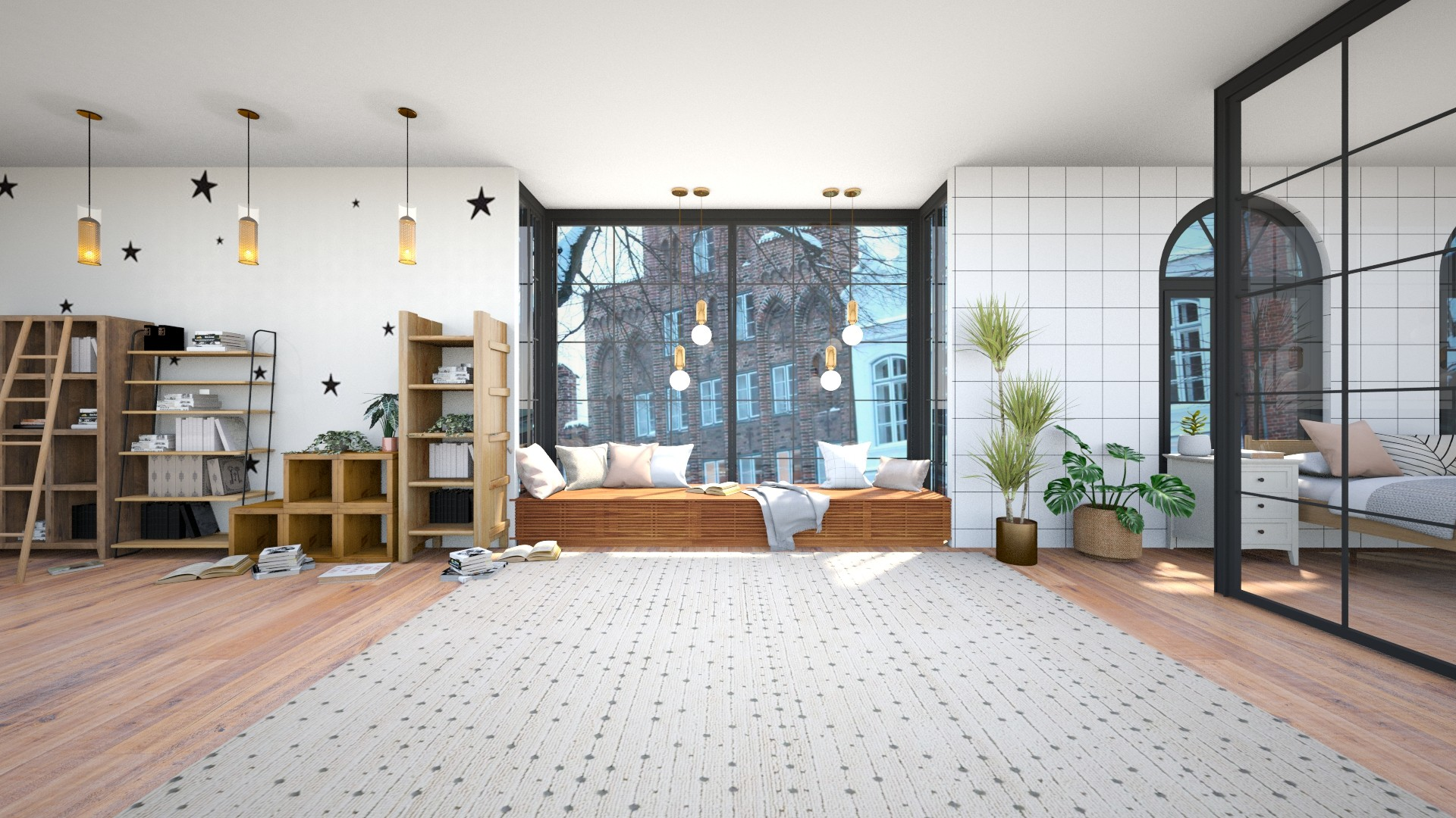 cosy book nook - Minimal - Bedroom  - by Happyspaniel