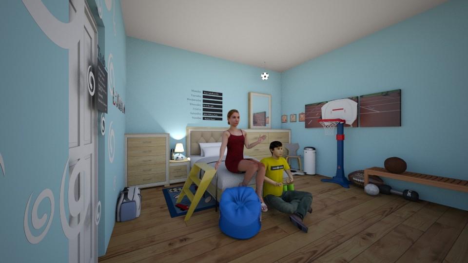 Hamilton Home MJ BedRm_2 - Masculine - Bedroom - by LovelyLadyB