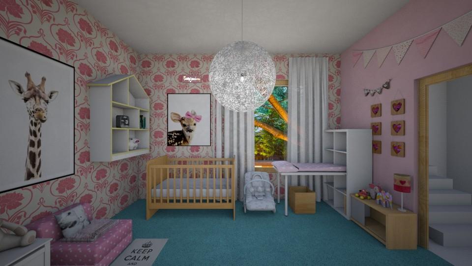 Pink Girly Nursery - Kids room - by Tara T