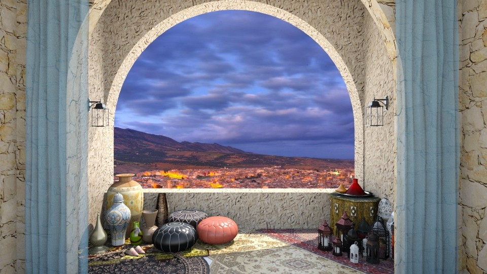 Small Balcony in Morocco - by molliesmith475