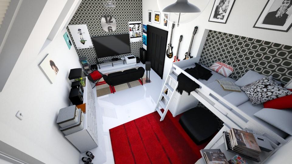 Teen Boy Room - Modern - Bedroom - by Candleshy