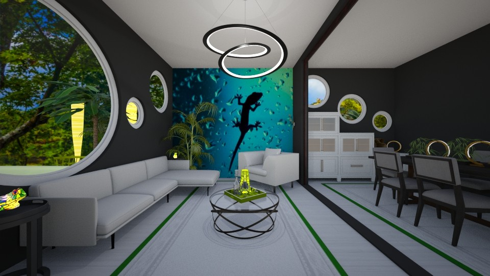 Eclectic Green_Yellow - Eclectic - Living room  - by JaidenLegg