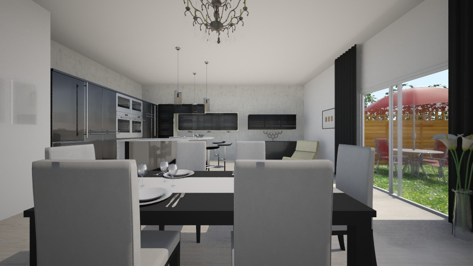 Black Kitchen - Kitchen  - by Evihun