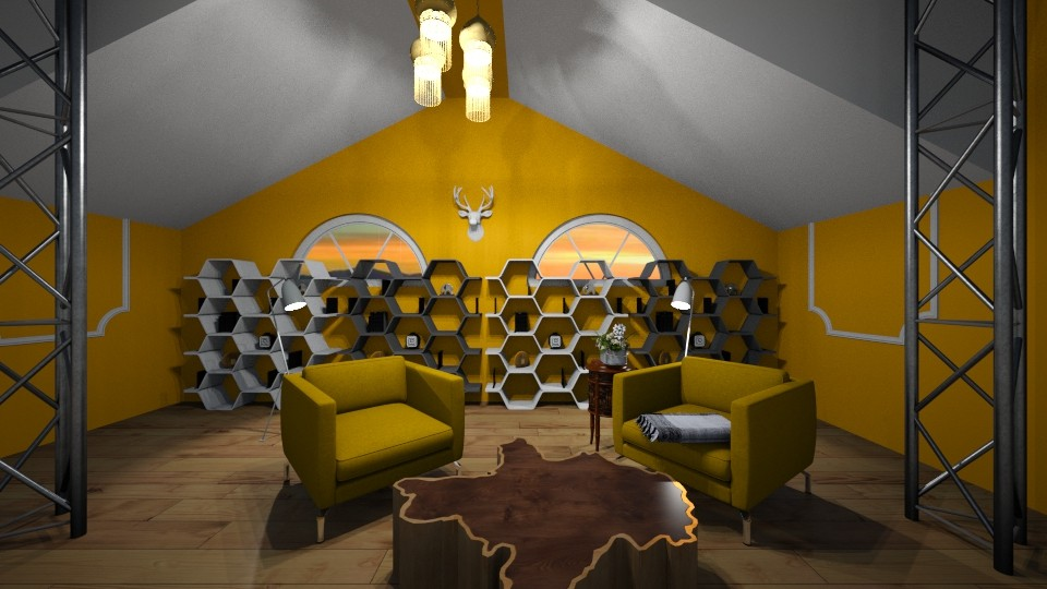 attic farmhouse  - Living room - by hevans48