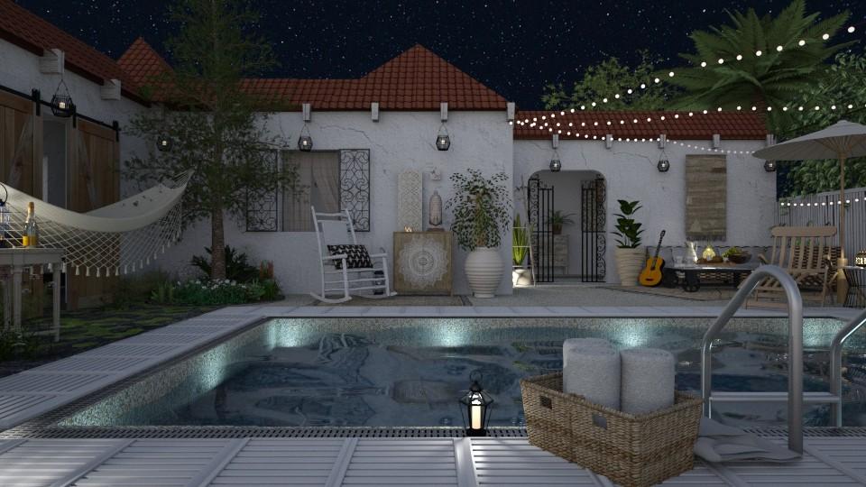 villa - Rustic - Garden - by starsector