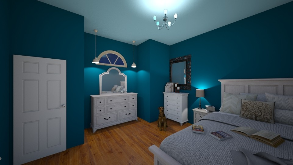 Blue bedroom - Bedroom - by Lily_Najimy