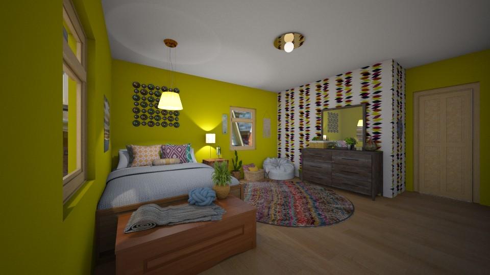 Boho Bedroom - Bedroom - by chocolatedonut71