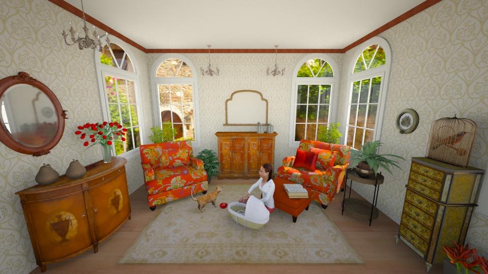 orangely  cozy - Feminine - Living room - by yarah