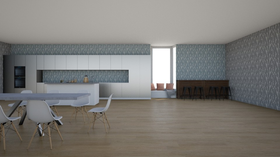 kitchen and dining room - by Marie Harrer