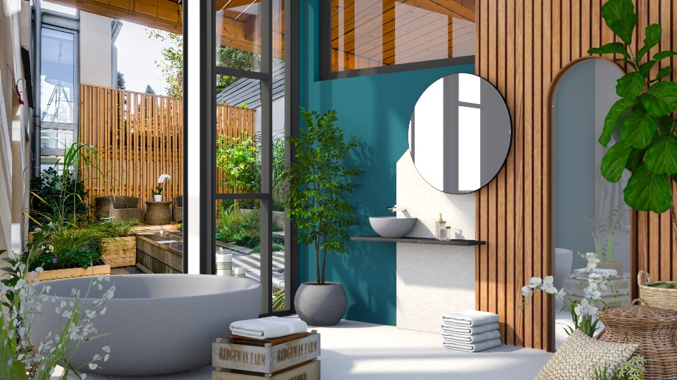 Blending the Interior with the Exterior - Bathroom - by ArtHousedeco