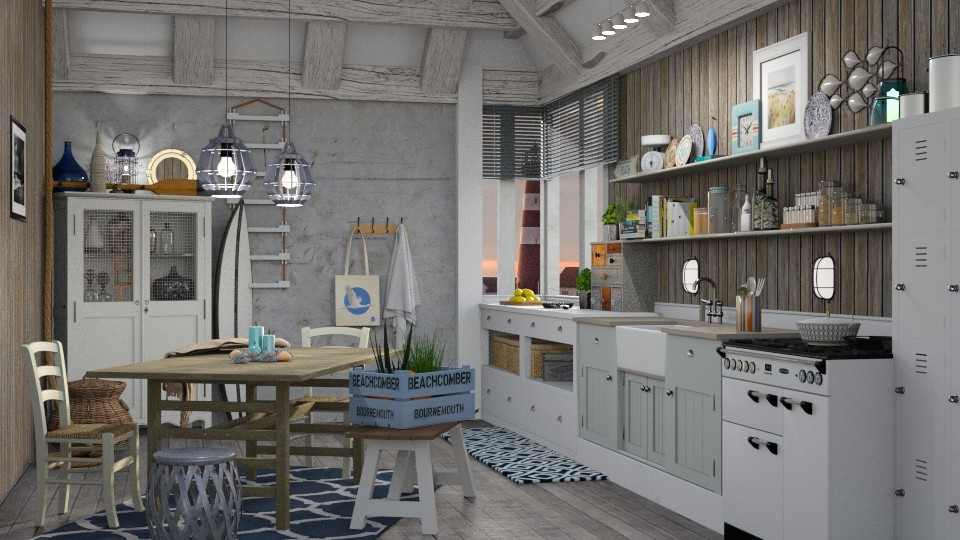 Nautical Kitchen - Kitchen - by Mandine