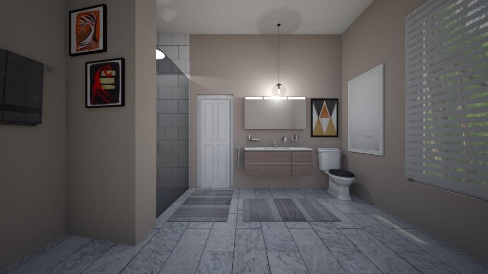 k - Bathroom - by The cartoon fan