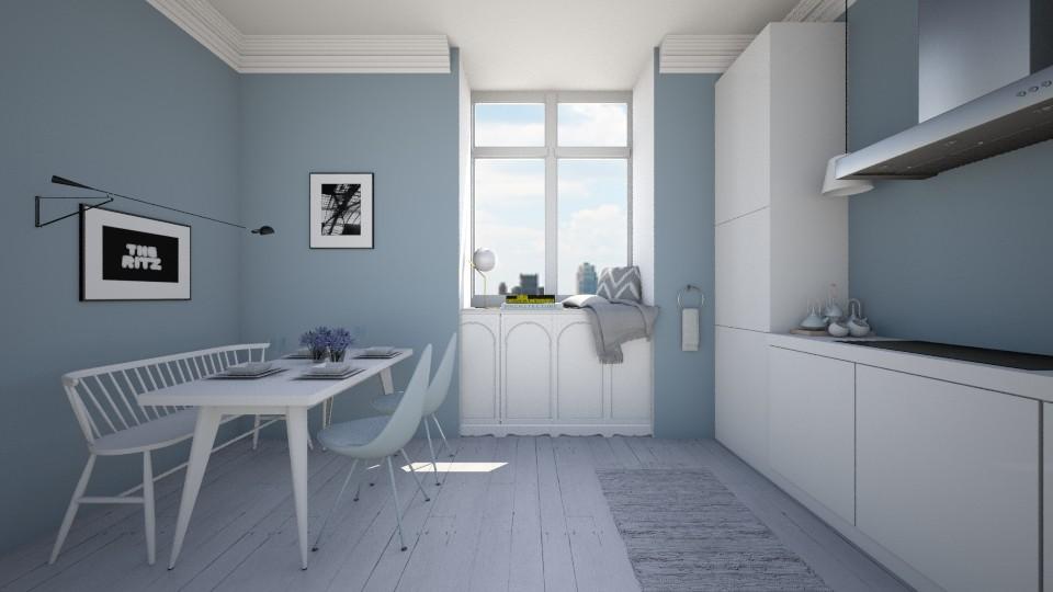 Blue - Kitchen  - by amandafern