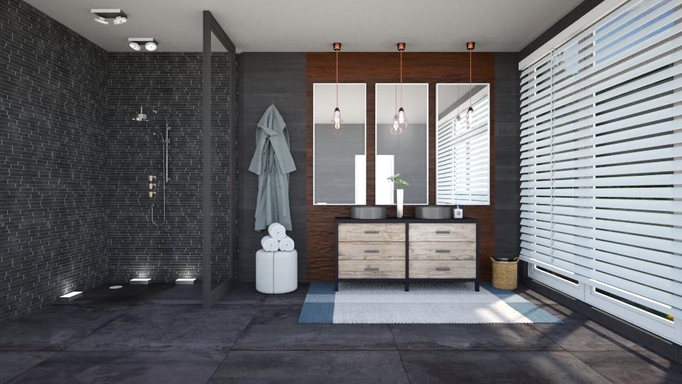 Dark Bathroom - Bathroom  - by ab1300