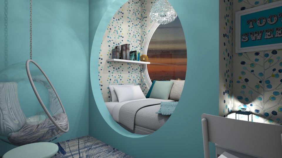 bedroom - by monikaskawinska