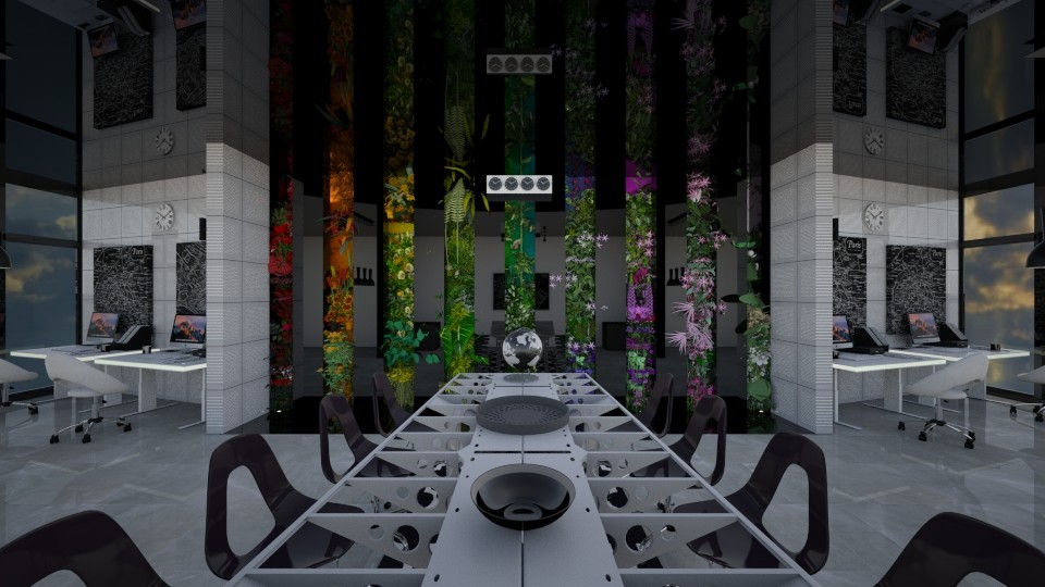 office living wall - by luna smith