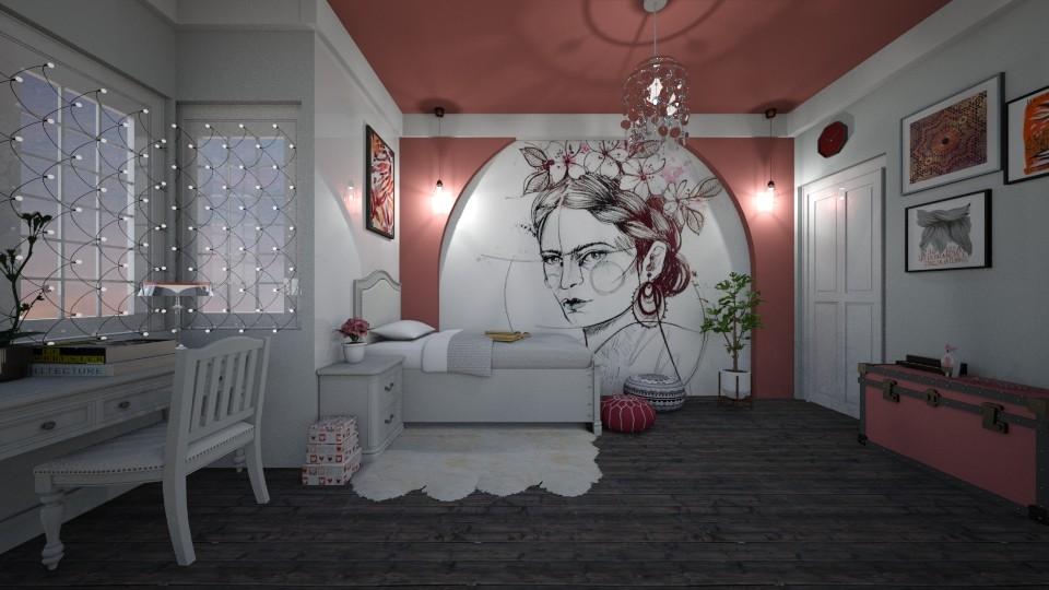 teen bedroom - Bedroom - by Rubella