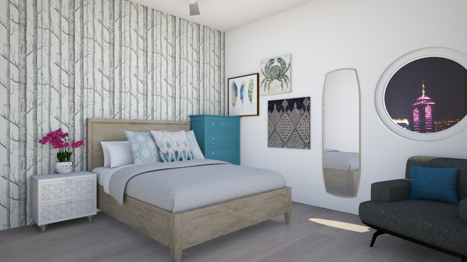 Bedroom Blues - Bedroom - by Maddie_Grace_