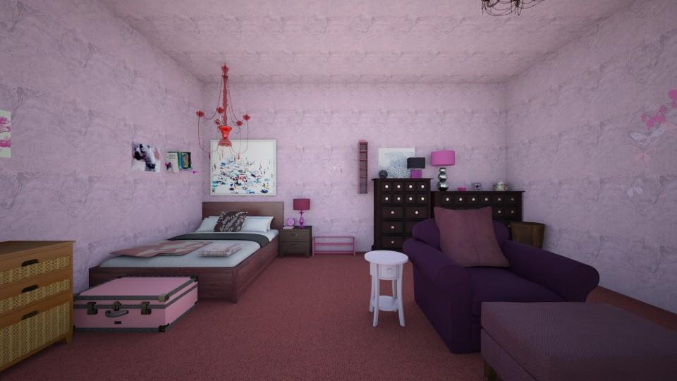 Grape Heaven Bedroom  - Modern - Bedroom - by Elf_prettyballetgirl16