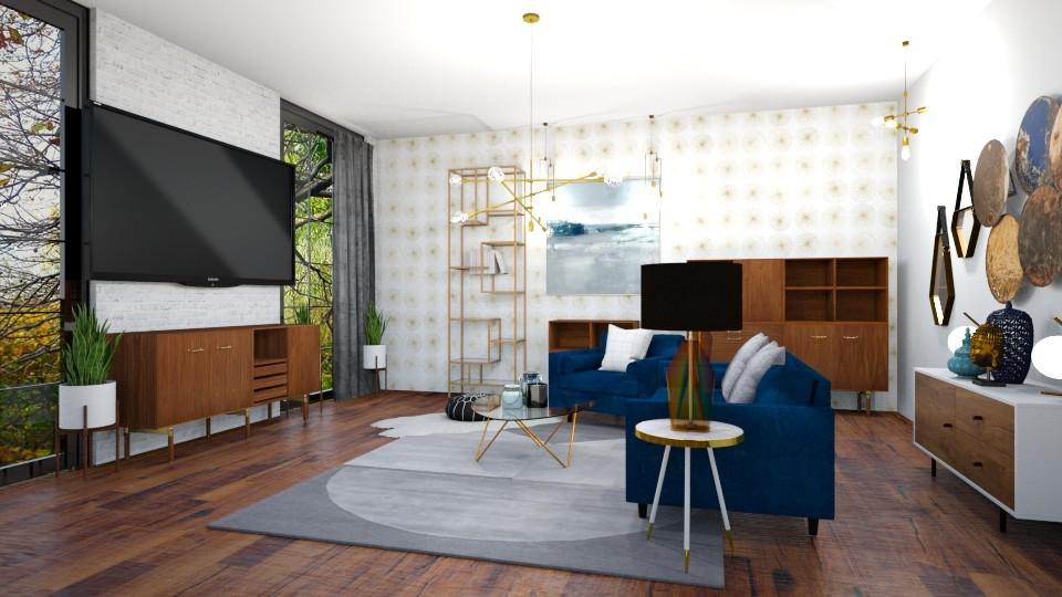 mid century modern - Living room  - by ccassidyyevvanns