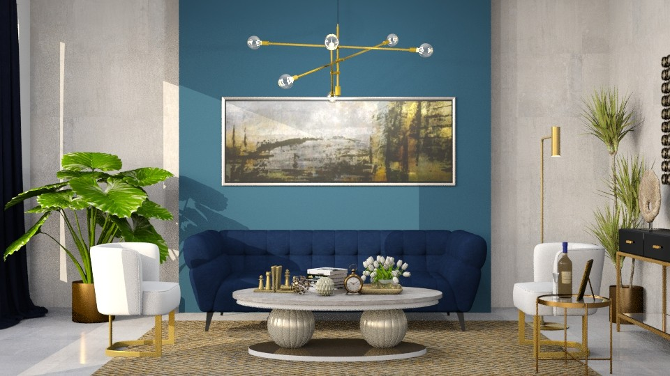 NAVY  - Glamour - Living room - by Rose Hdz